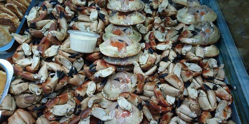 No he oss ferske krabbeklør og fylte krabbeskjell …